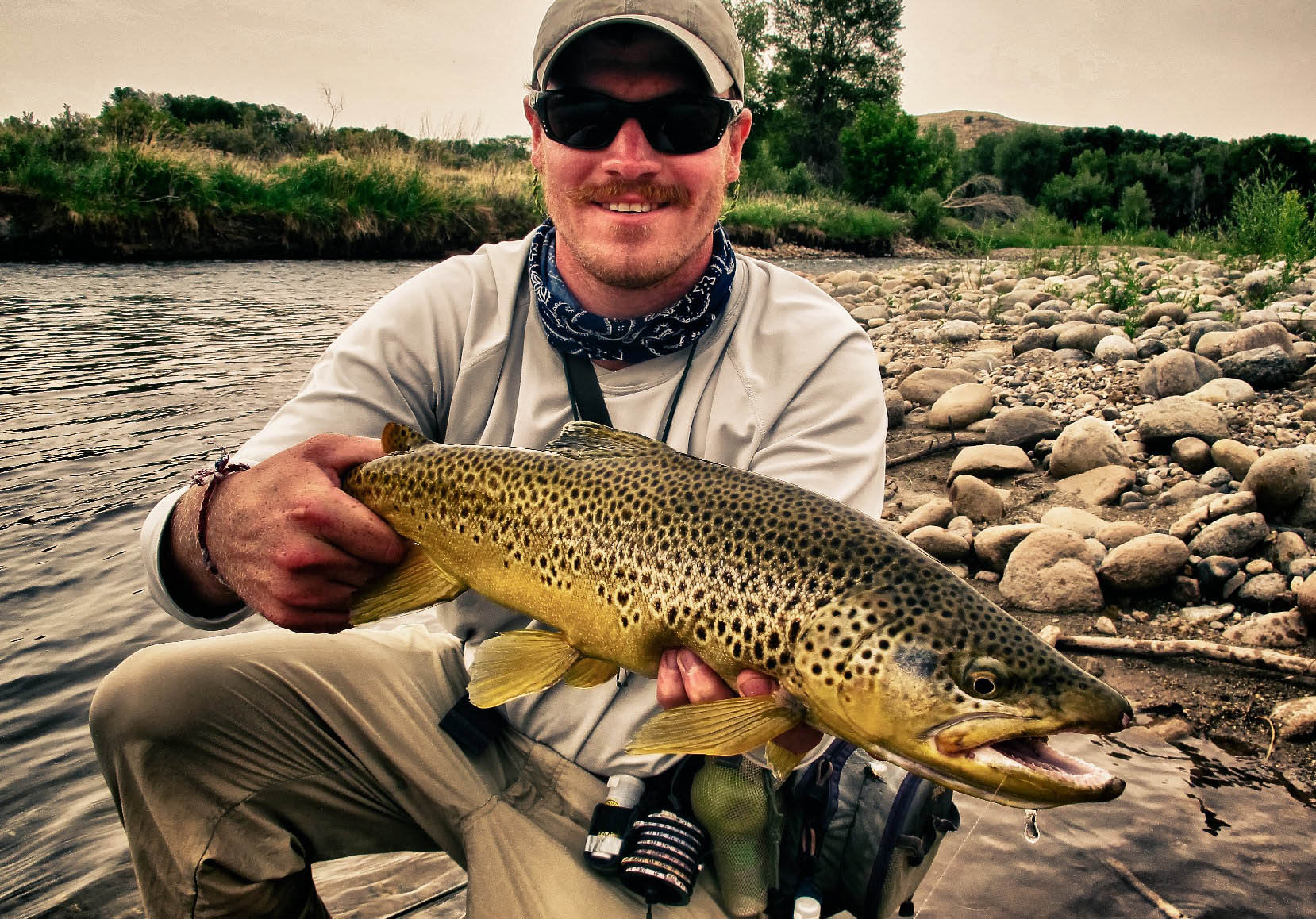 Private Water Fly Fishing Wyoming Montana Brown Trout Rainbow Trout Cutthroat Trout