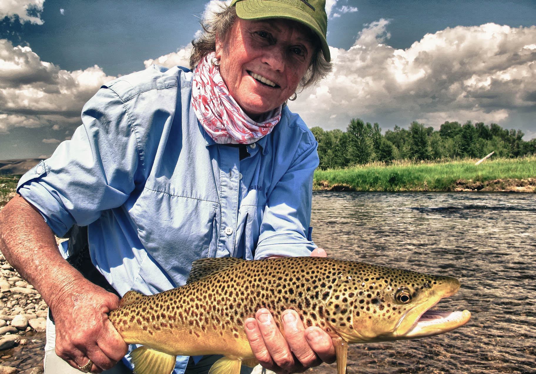 Wild Brown Trout Private Water Fly Fishing Wade Fishing